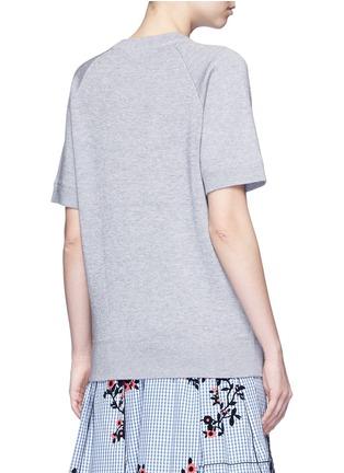 Back View - Click To Enlarge - Marc Jacobs - Embellished cotton blend mélange sweatshirt