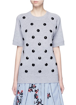 Main View - Click To Enlarge - Marc Jacobs - Embellished cotton blend mélange sweatshirt