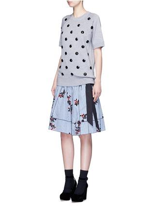 Figure View - Click To Enlarge - Marc Jacobs - Embellished cotton blend mélange sweatshirt