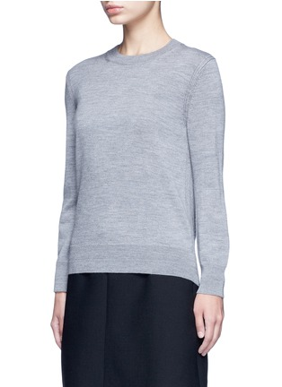 Front View - Click To Enlarge - MARC JACOBS - Jewel button back wool sweater