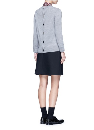 Figure View - Click To Enlarge - MARC JACOBS - Jewel button back wool sweater