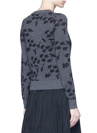 Back View - Click To Enlarge - Marc Jacobs - Animal intarsia cashmere knit sweater