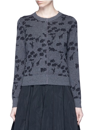 Main View - Click To Enlarge - Marc Jacobs - Animal intarsia cashmere knit sweater