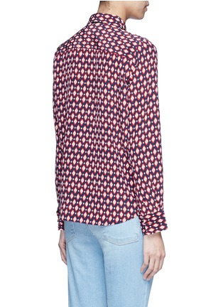 Back View - Click To Enlarge - Marc Jacobs - Neck tie diamond print silk shirt
