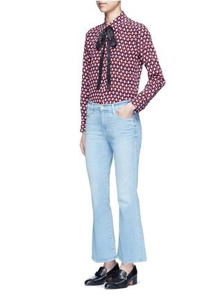 Figure View - Click To Enlarge - Marc Jacobs - Neck tie diamond print silk shirt