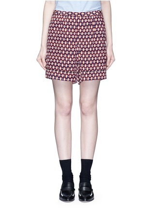 Main View - Click To Enlarge - Marc Jacobs - Vintage diamond print silk shorts