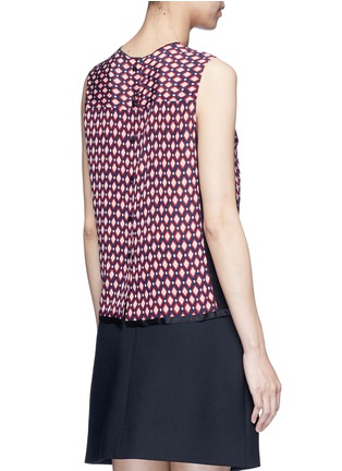 Back View - Click To Enlarge - Marc Jacobs - Vintage diamond print silk sleeveless blouse