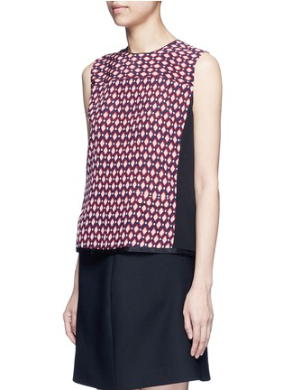 Front View - Click To Enlarge - Marc Jacobs - Vintage diamond print silk sleeveless blouse
