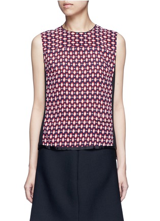 Main View - Click To Enlarge - Marc Jacobs - Vintage diamond print silk sleeveless blouse