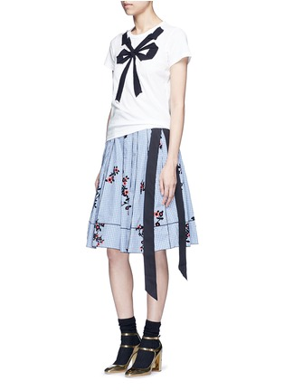 Figure View - Click To Enlarge - Marc Jacobs - Floral gingham print flared skirt