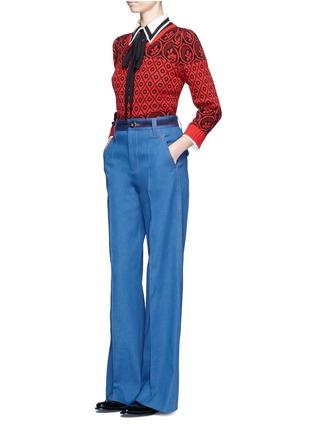 Figure View - Click To Enlarge - Marc Jacobs - Wide leg denim pants