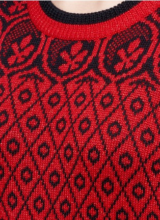 Detail View - Click To Enlarge - MARC JACOBS - Intarsia wool blend knit sweater