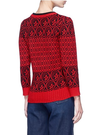 Back View - Click To Enlarge - MARC JACOBS - Intarsia wool blend knit sweater
