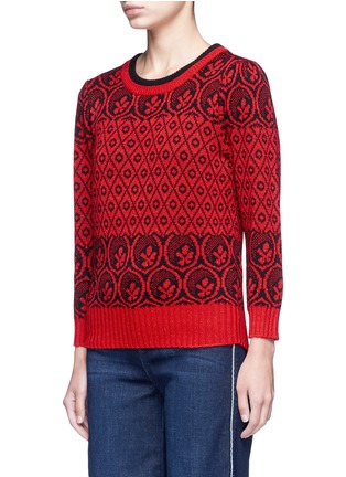 Front View - Click To Enlarge - Marc Jacobs - Intarsia wool blend knit sweater