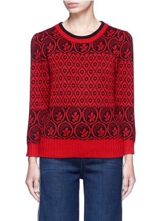 Main View - Click To Enlarge - Marc Jacobs - Intarsia wool blend knit sweater