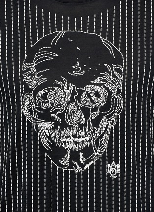 Detail View - Click To Enlarge - Alexander McQueen - Skull stitch embroidery T-shirt