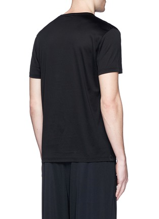 Back View - Click To Enlarge - Alexander McQueen - Skull stitch embroidery T-shirt