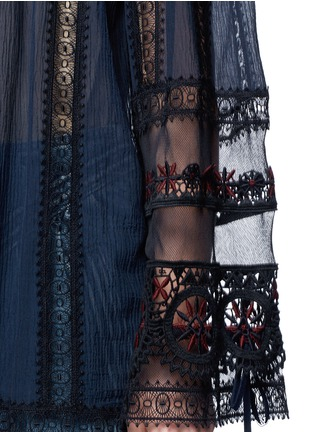 Detail View - Click To Enlarge - Chloé - Embroidered trim off-shoulder top