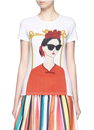 Main View - Click To Enlarge - alice + olivia - 'Stacey Frida' print T-shirt