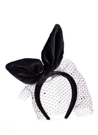 Figure View - Click To Enlarge - Piers Atkinson - Velvet bow veil headband