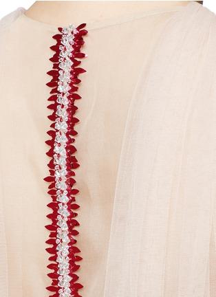 Detail View - Click To Enlarge - DELPOZO - Bead paillette back trim tulle dress
