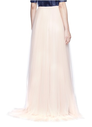 Back View - Click To Enlarge - DELPOZO - Tulle organza combo maxi skirt