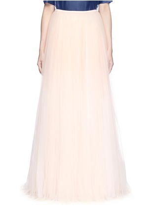 Main View - Click To Enlarge - DELPOZO - Tulle organza combo maxi skirt