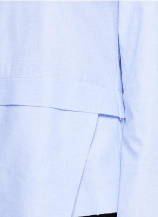 Detail View - Click To Enlarge - CÉDRIC CHARLIER - Drape hem cotton top