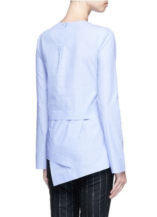 Back View - Click To Enlarge - CÉDRIC CHARLIER - Drape hem cotton top