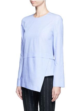 Front View - Click To Enlarge - Cédric Charlier - Drape hem cotton top