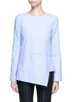 Main View - Click To Enlarge - CÉDRIC CHARLIER - Drape hem cotton top