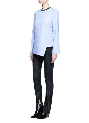 Figure View - Click To Enlarge - Cédric Charlier - Drape hem cotton top