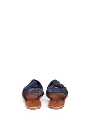 Back View - Click To Enlarge - 10 Crosby Derek Lam - 'Pell' twist denim effect suede slingback sandals