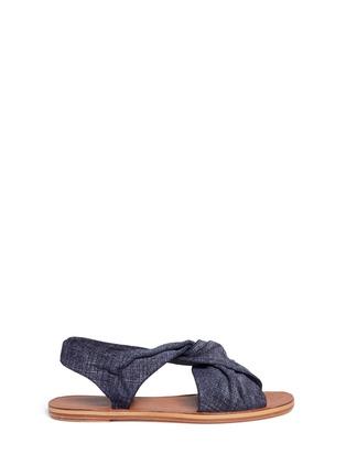 Main View - Click To Enlarge - 10 Crosby Derek Lam - 'Pell' twist denim effect suede slingback sandals
