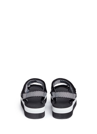 Back View - Click To Enlarge - Teva - 'Flatform Universal' candy stripe print sandals