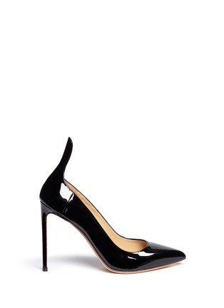 Main View - Click To Enlarge - Francesco Russo - Arched collar patent leather pumps