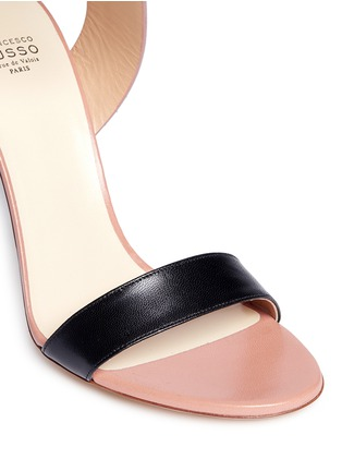 Detail View - Click To Enlarge - Francesco Russo - Ankle strap leather suede sandals