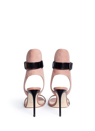Back View - Click To Enlarge - Francesco Russo - Ankle strap leather suede sandals
