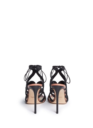 Back View - Click To Enlarge - Francesco Russo - Braided leather sandals
