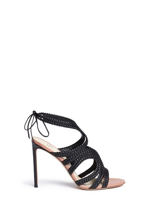 Main View - Click To Enlarge - Francesco Russo - Braided leather sandals