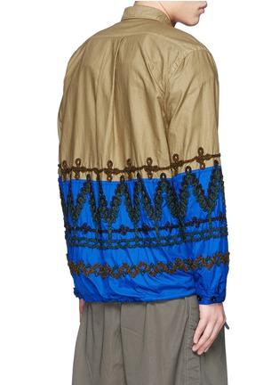 Back View - Click To Enlarge - Sacai - Leaf embroidery contrast hem shirt jacket