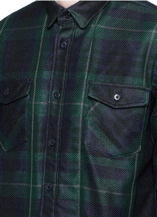 Detail View - Click To Enlarge - Sacai - Buffalo check extended underlay shirt