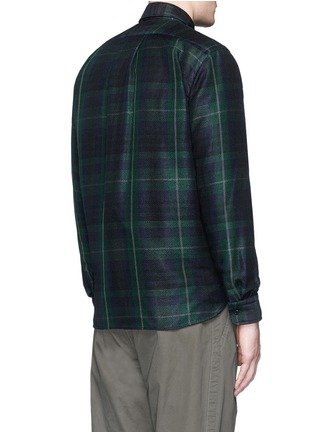 Back View - Click To Enlarge - Sacai - Buffalo check extended underlay shirt