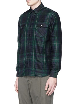 Front View - Click To Enlarge - Sacai - Buffalo check extended underlay shirt
