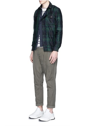 Figure View - Click To Enlarge - Sacai - Buffalo check extended underlay shirt