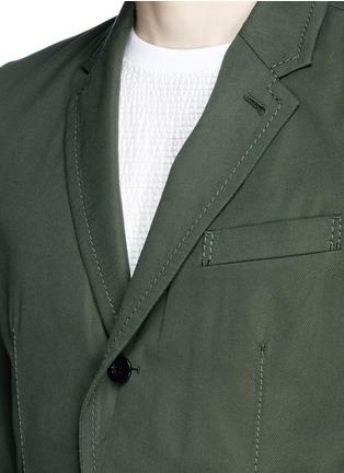 Detail View - Click To Enlarge - Sacai - Ruffle underlay Cavalry twill blazer