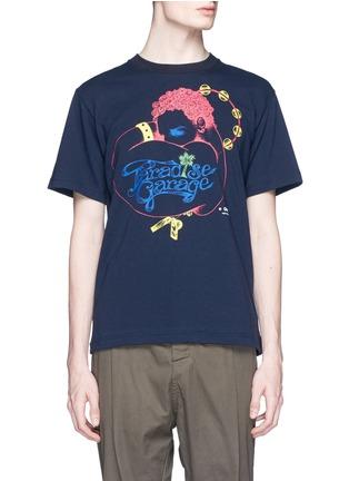 Main View - Click To Enlarge - Sacai - 'Paradise Garage' print cotton T-shirt