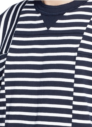 Detail View - Click To Enlarge - Sacai - Patchwork stripe T-shirt