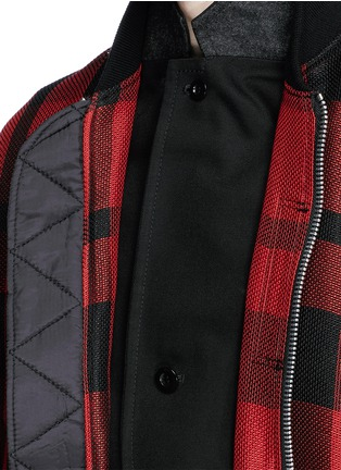 Detail View - Click To Enlarge - Sacai - Buffalo check extended underlay bomber jacket