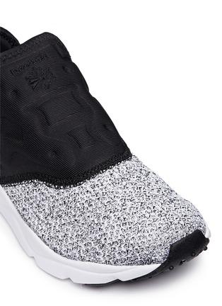 Detail View - Click To Enlarge - Reebok - 'FuryLite' waffle knit neoprene slip-on sneakers